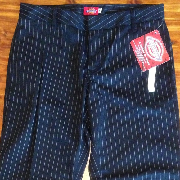d82ae4a4e2002 Dickie s Girl Pin Striped Cropped Work Pants